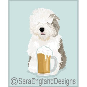 Old English Sheepdog Best Friends Prints