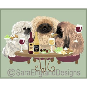 Pekingese 3 Dogs Prints