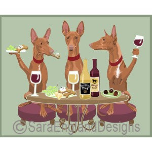 Pharaoh Hound 3 Dogs Prints