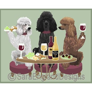 Poodle-Standard Mixed 3 Dogs Prints