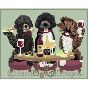 Portuguese Water Dog Mixed 3 Dogs Prints