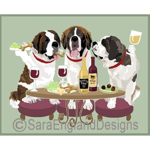 Saint Bernard 3 Dogs Prints