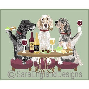 English Setter 3 Dogs Prints