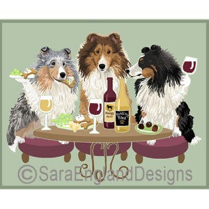 Sheltie 3 Dogs Prints