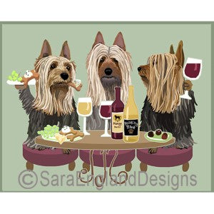 Silky Terrier 3 Dogs Prints