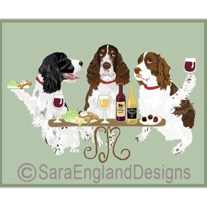 English Springer Spaniel 3 Dogs Prints