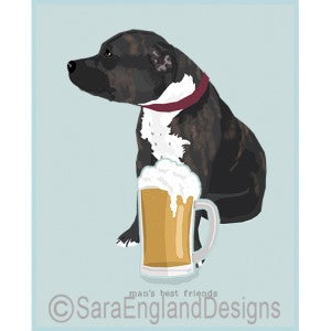 Staffordshire Bull Terrier Best Friends Prints
