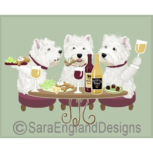 West Highland White Terrier 3 Dogs Prints
