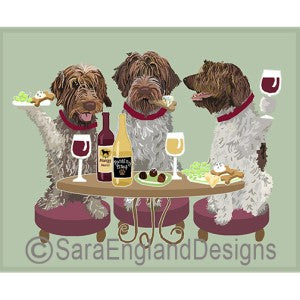 Wirehaired Pointing Griffon 3 Dogs Prints