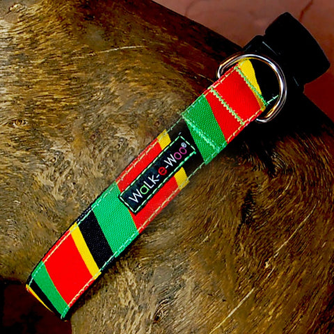 Rasta Stripe Walk-E-Woo Collar