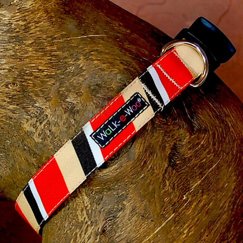 Red/Tan Stripe Walk-E-Woo Collar