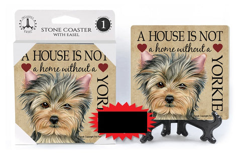 Yorkie Absorbent Stone Coaster