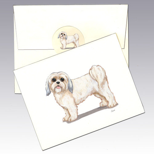 Lhasa Apso 8 Pack Notecards