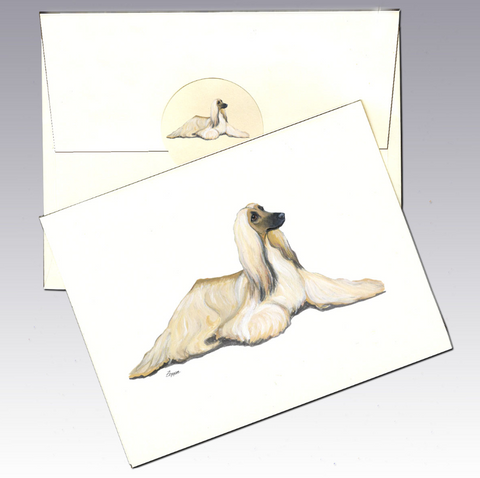 Afghan Hound 8 Pack Notecards