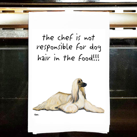 Afghan Hound Kitchen Tea Towel