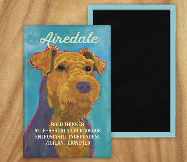 Airedale Terrier 2 x 3 Fridge Magnet