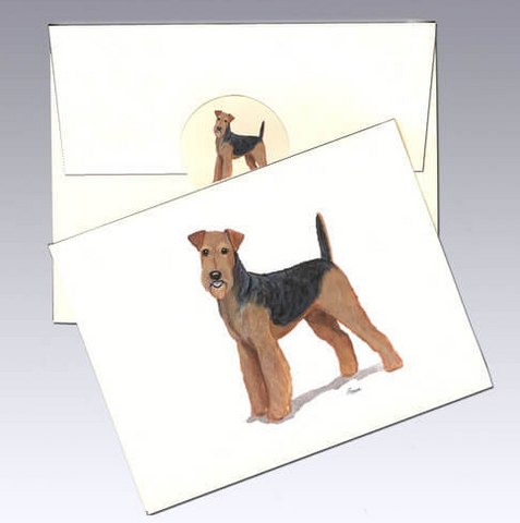 Airedale Terrier 8 Pack Notecards