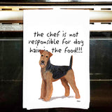 Airedale Terrier Kitchen Tea Towel