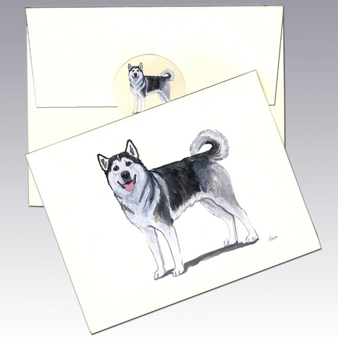 Alaskan Malamute 8 Pack Notecards