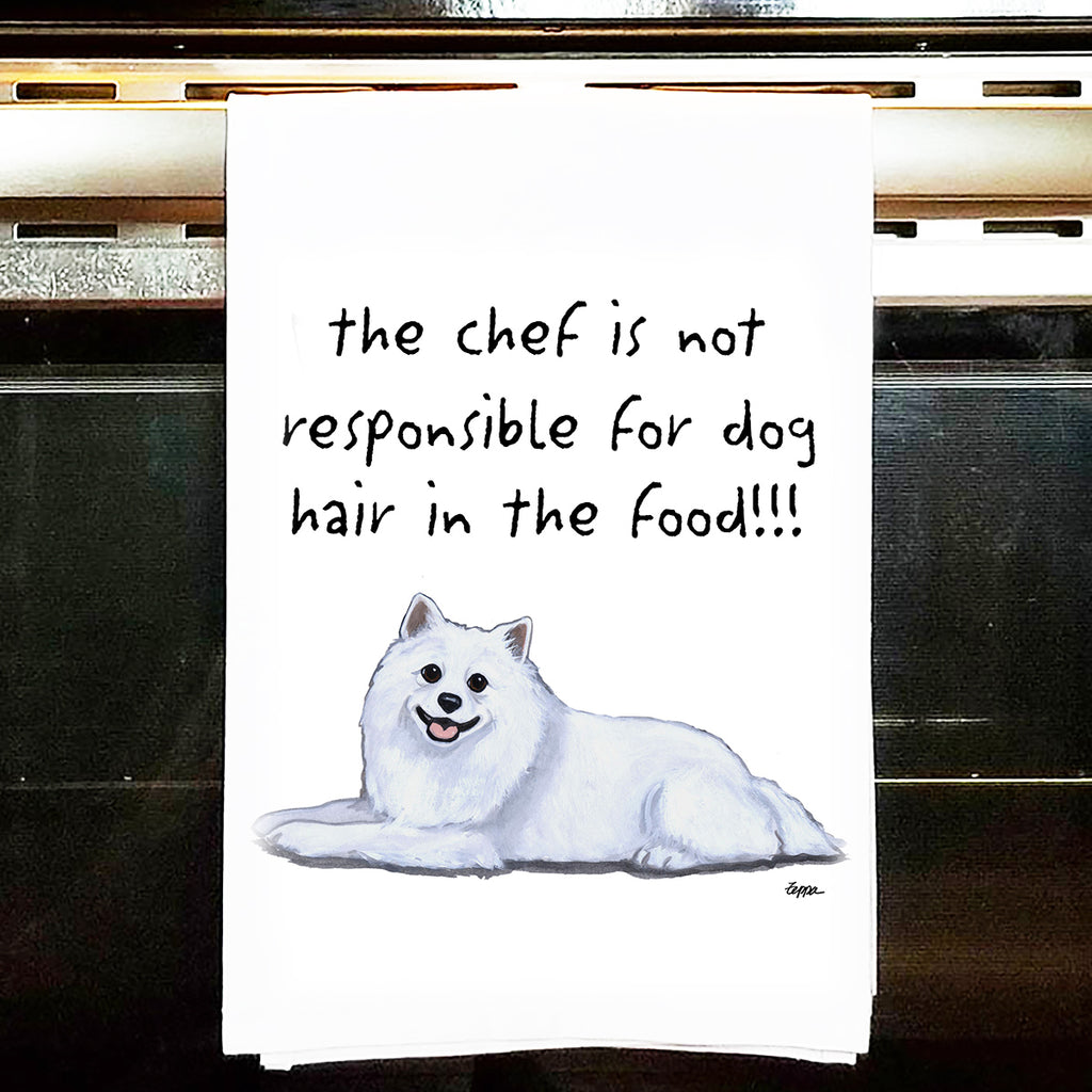 American Eskimo Dog Kitchen Tea Towel