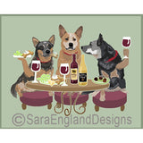 Australian Cattle Dog 3 Dogs Prints