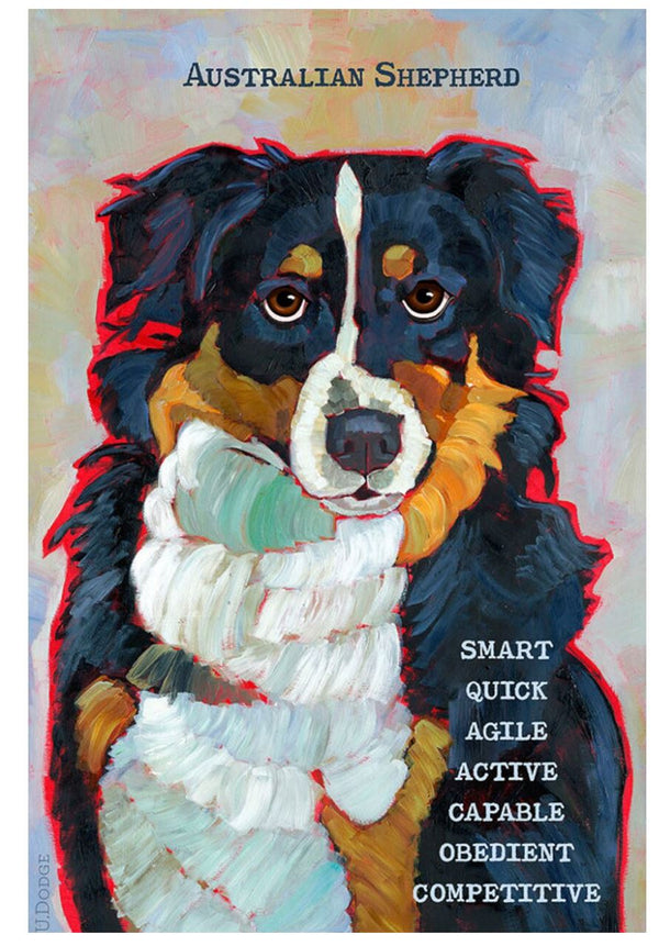 Australian Shepherd 3 x 4 Sticker