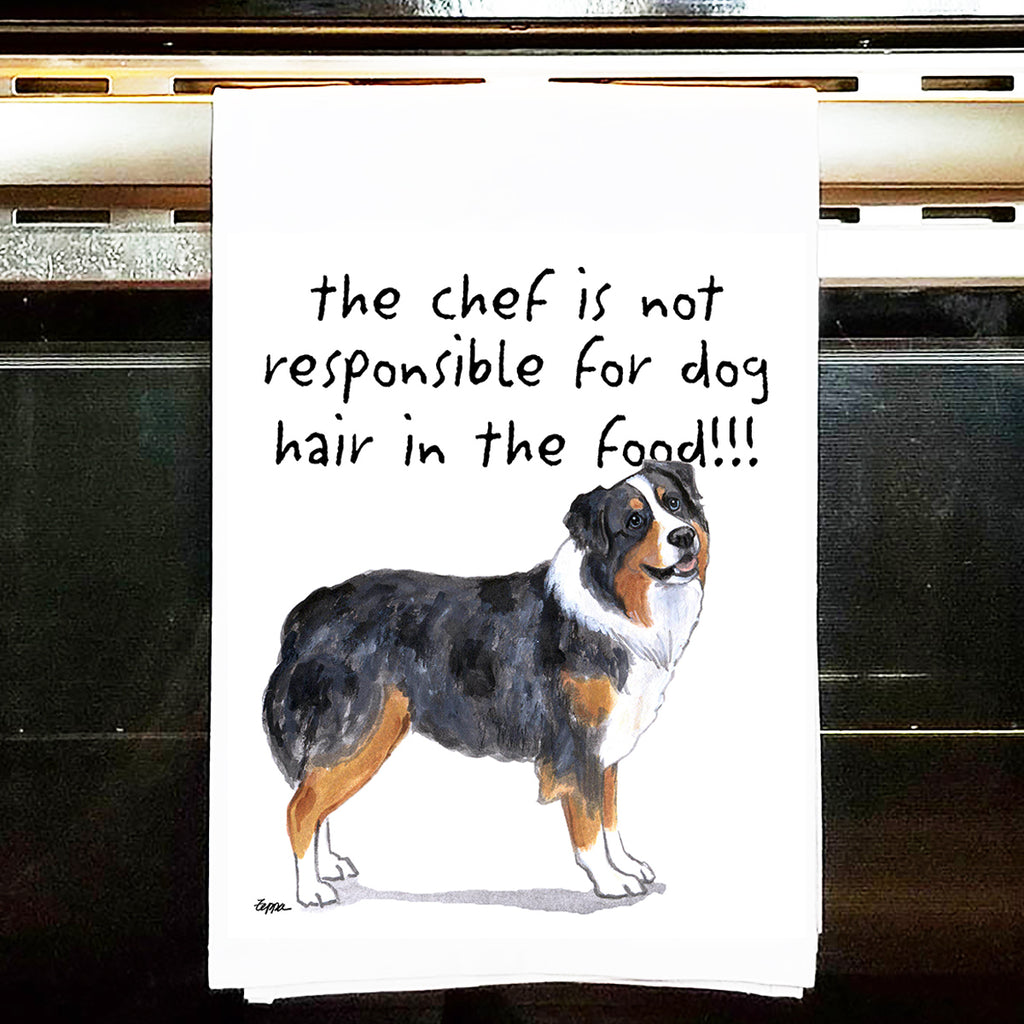 Australian Shepherd Kitchen Tea Towel
