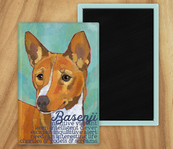 Basenji 2 x 3 Fridge Magnet
