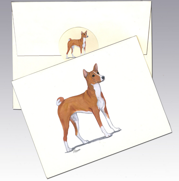 Basenji 8 Pack Notecards