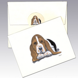 Basset Hound 8 Pack Notecards