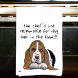 Basset Hound Kitchen Tea Towel