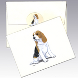 Beagle 8 Pack Notecards