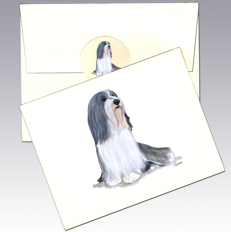Bearded Collie 8 Pack Notecards
