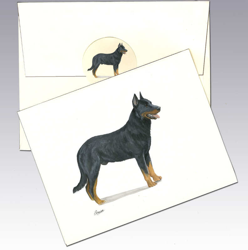 Beauceron 8 Pack Notecards
