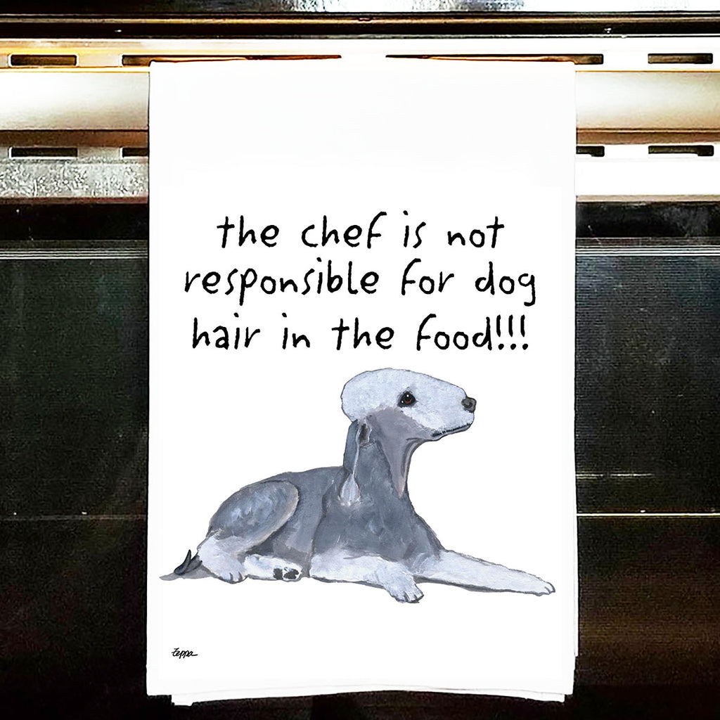 Bedlington Terrier Kitchen Tea Towel