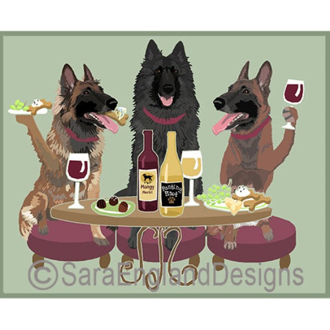 Belgian Sheepdog 3 Dogs Prints