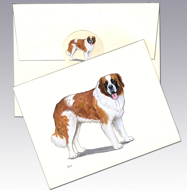Saint Bernard 8 Pack Notecards