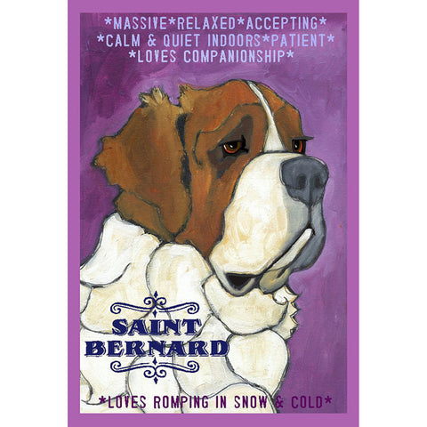 Saint Bernard 2 x 3 Fridge Magnet