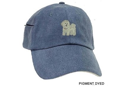 Bichon Frise Embrodiered Baseball Caps