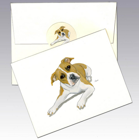 American Pitbull Terrier 8 Pack Notecards
