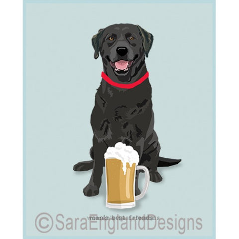 Black Labrador Best Friends Prints