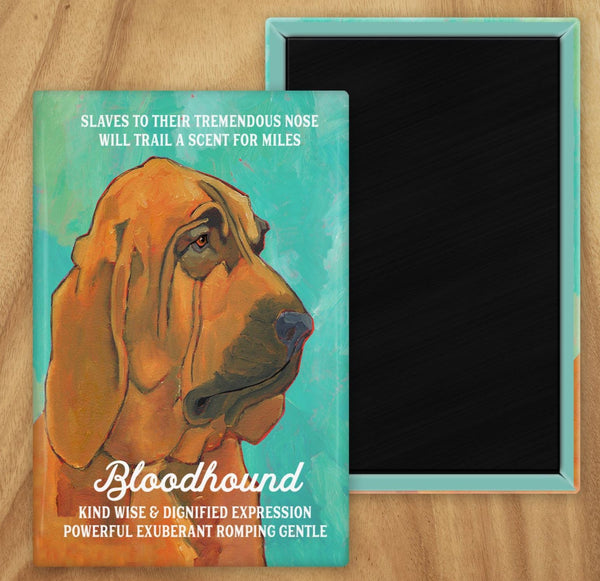Bloodhound 2 x 3 Fridge Magnet