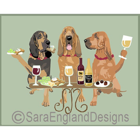 Bloodhound 3 Dogs Prints