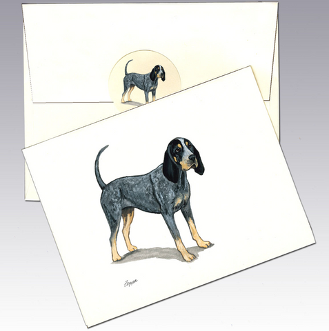 Bluetick Coonhound 8 Pack Notecards