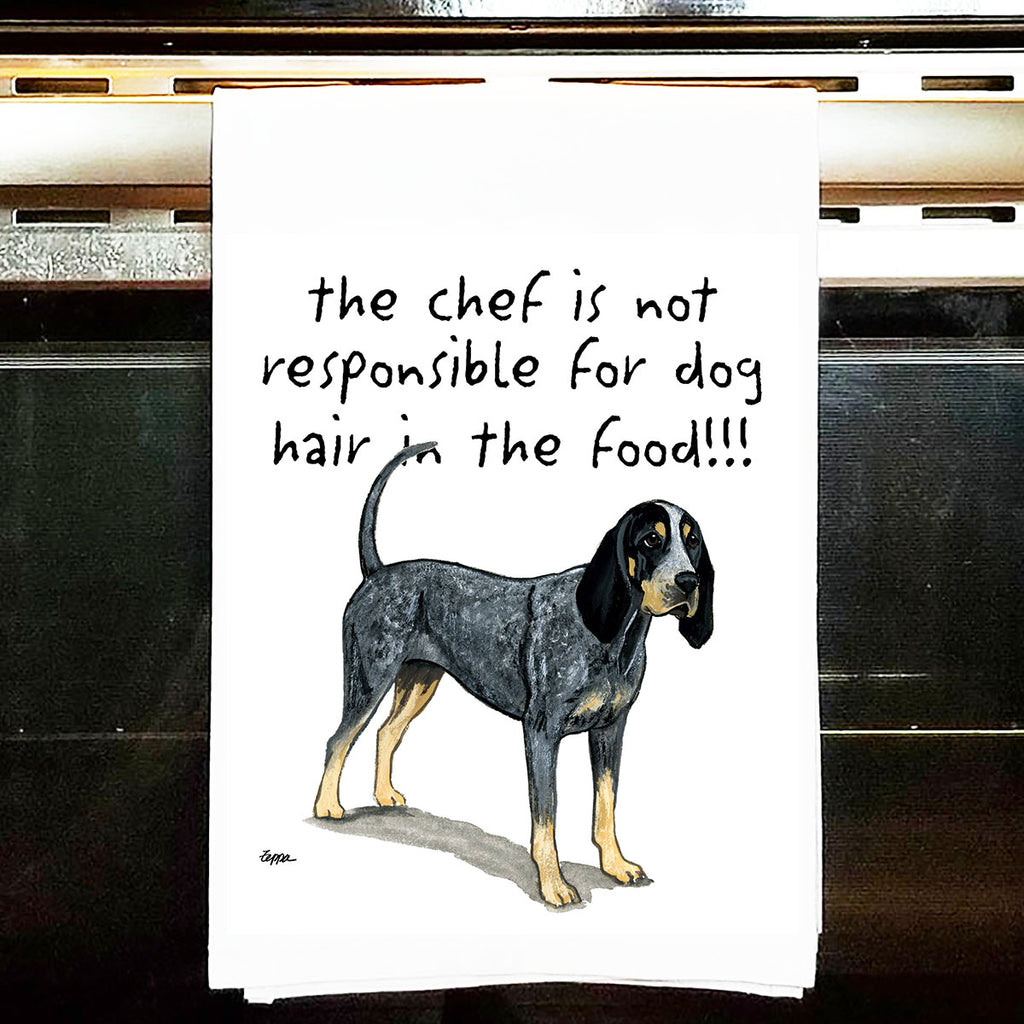 Bluetick Coonhound Kitchen Tea Towel