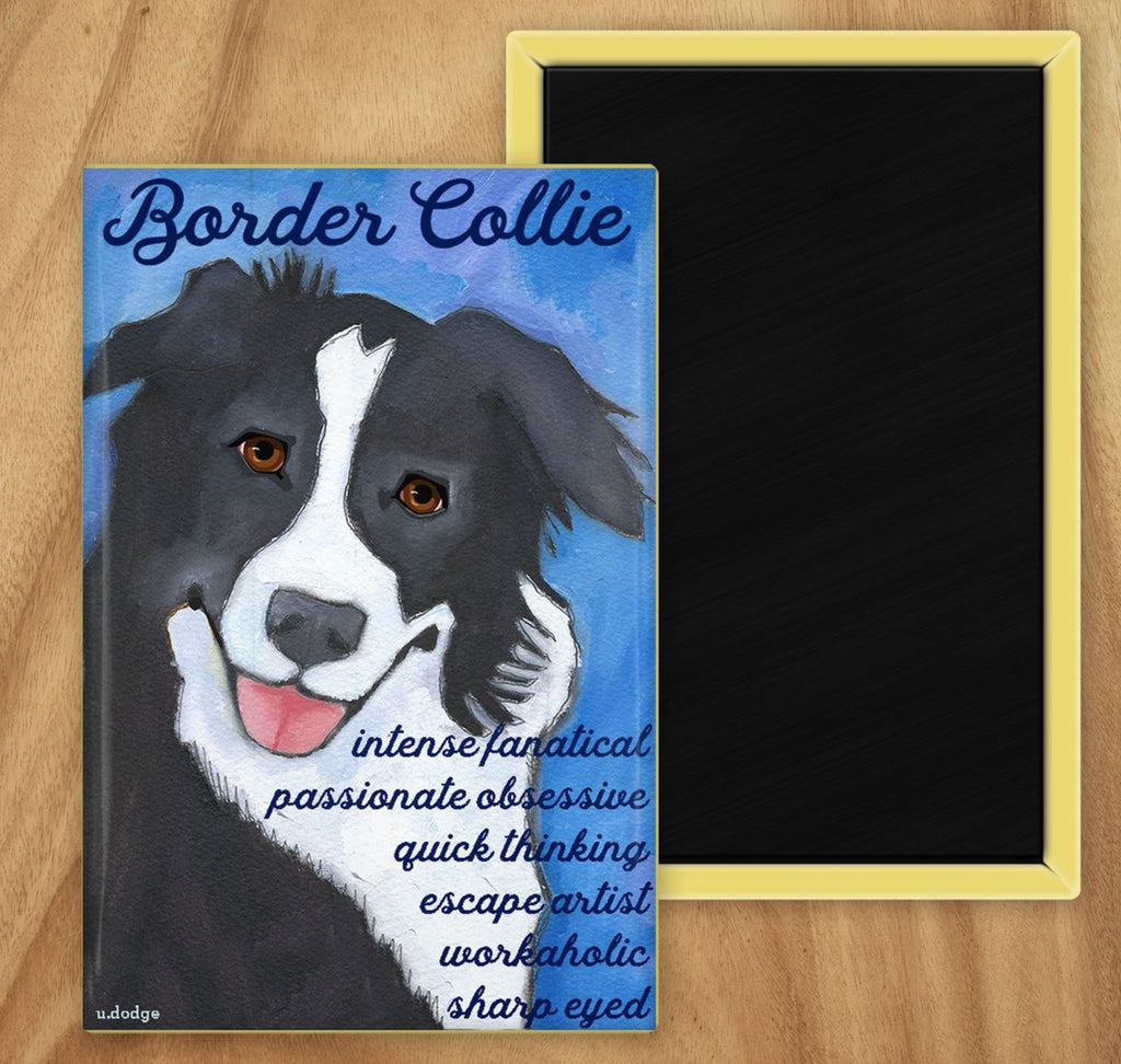 Border Collie 2 x 3 Fridge Magnet