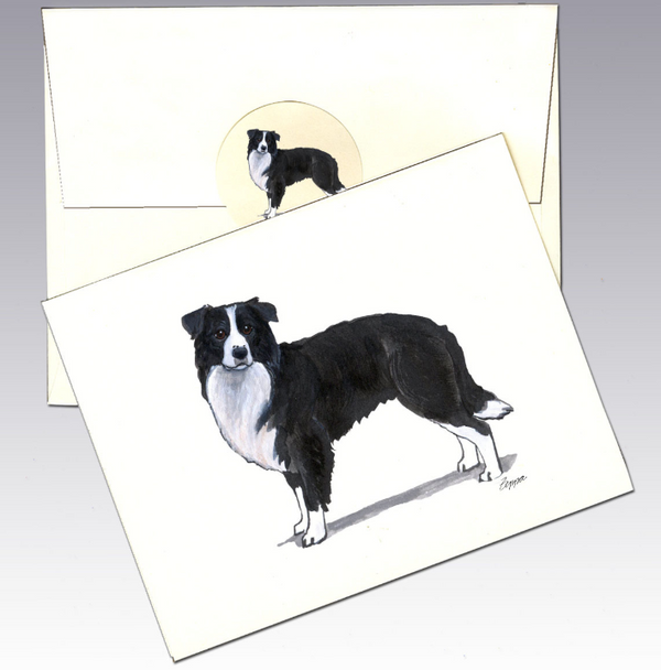Border Collie 8 Pack Notecards