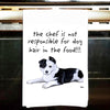 Border Collie Kitchen Tea Towel