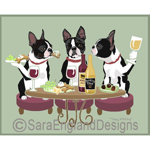 Boston Terrier 3 Dogs Prints