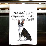 Boston Terrier Kitchen Tea Towel